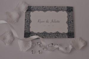 Z fold A6 wedding RSVP