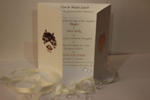 foiled metallic wedding invitation